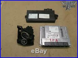 08 Bmw X5 E70 Engine Computer Module Ecu & Ignition Key Cas Control Unit Set Oem