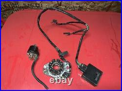 2001 Honda CR250R CDI Control Module, Ignition Coil, Stator. DAMAGED