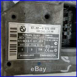 2006-2008 BMW 750i 750Li ECU ENGINE CONTROL IGNITION MODULE KEY SET OEM