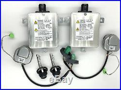 2x New OEM 11-17 Honda Odyssey Xenon HID Headlight Ballast & Philips D2S Bulb