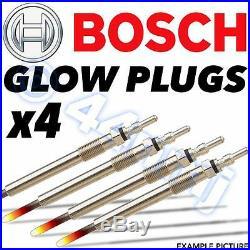 4x BOSCH Diesel Glow Plugs BMW 5 Series 520d inc. Touring E60 2007on