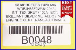 98-03 Mercedes W210 E320 CLK320 Ignition Switch Control Module with Key Set A96