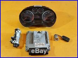Audi A3 8p 2004 2.0 Tdi Bkd Engine Control Unit Ecu Lock Set 03g906016ff