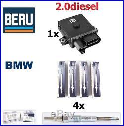 BERU Original 4x Glow Plug & 1x Control Relay unit BMW E87 E46 E90 E60 E70 E83