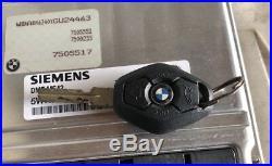 BMW E39 E46 E53 525i 325iX5 DME ECU ECM ENGINE COMPUTER KEY SET KIT OEM