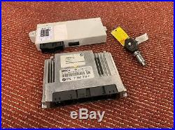 Bmw 2004-2005 E60 E63 Dme Ecu Engine Computer Module Key Ignition Set Oem 90k