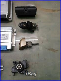 COMPLETE BMW E46 3 Series 318i M43 Auto ECU Lock Set, EWS, Ignition Barrel 1 Key