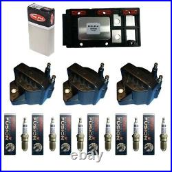 Delphi Ignition Control Module + 3 Ignition Coils + 6 Bosch Spark Plugs