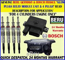 For 1 / 5 Series 118d 120d 520d X3 2.0d Glow Plug X4 & Relay Control Module Unit