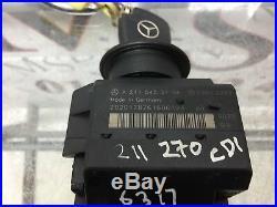 Mercedes Benz W211 E270 CDI Ignition Control Module With Key A2115453108