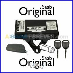 SAAB 9-3 TWICE THEFT CONTROL MODULE With REMOTE & 2 KEYS & IGNITION CYLINDER
