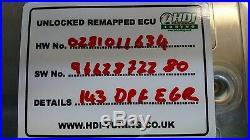 Unlocked ECU IMMO OFF Peugeot 307 1.6 HDI EDC16C 0281011634 remap DPF 9662872280