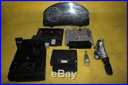 VW GOLF 2006 MK5 1.6 petrol ECU KIT CLOCK KEY IGNITION BARREL MODULE 03C906056AK