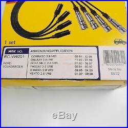 Zündkabelsatz 6-teilig NGK 0932 VR6 2,8l 2,9l ruhende Zündspule AAA ABV